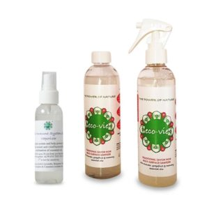 photo of eco-vie-2-x-250ml-multi-surface-sanitizers-and-1-x-immune-system-support-hand-sanitizer